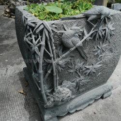 가든 내추럴 화강암 스톤 중국식 창의적인 Bonsai Bowl Penjing 예술 작은 화분 풍경 화분 장식용 화분