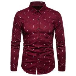 2021 أزياء مصمم أزياء قميص رجالي اللباس قميص طويل الأكمام ملابس عادية عالية الجودة