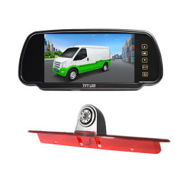 7 Zoll Touch-Button Backup Auto Kamera Rückspiegel Monitor Screen System Rückspiegel Auto Monitor mit 2 Eingang Weg