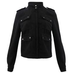 Camuflaje negro del diseñador de motocicletas custom Suede Invierno Lady Chaqueta Caot mayorista