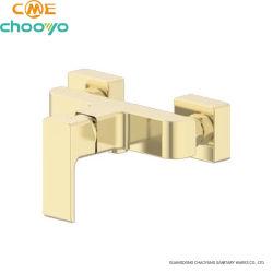 Beliebte Modell Brushed Gold Kommerzielle Wasser Sparende Messing Bad Dusche Wasserhahn Badewanne Mixer Wasserhahn