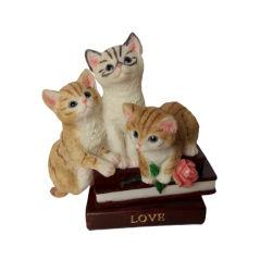 Afbeelding van de vorm van de Kat van de hars Figurines van de vorm Home Decors de weergave van de Decoratie van de Kunst Ambacht