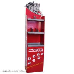 Padrão de camadas alimentos para gatos de papelão para colocar no piso mostrar