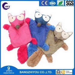 Novo Brinquedo Vocal Pet Shell de couro de pelúcia pequena Raccoon Forma com anel o brinquedo de cães de papel