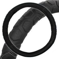 Véhicule automobile 15 pouces noir en simili-cuir polyuréthane antidérapante Volant couvercle enveloppant, le décor intérieur décoration de voiture