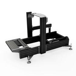 Industrial OEM Plata Negro Anodize 4080 Perfil de Aluminio 40x80mm para la plataforma de bastidores de simulador de carreras de SIM