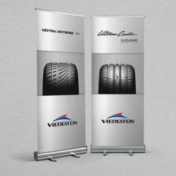 Custom Portable Trade Show Publicidade Alumínio Outdoor Cenário de Actualizações do suporte da capota arregaçar Banner