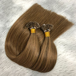 100% Brasilianische Jungfrau Remy Haar flache Spitze 8-28inch doppelt ertrinken Vorgebondete Haarverlängerungen