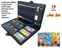 Fontes de arte Kids coloração definido, 79PCS Conjunto de arte