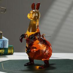 Ensemble de verres à vin grande capacité en verre de forme de kangourou bouteille de whisky Scotch