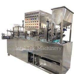 Volledig automatisch mineraalwater Aluminium folie Plastic Cup Sealing machine Wasmachine wassen