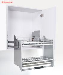 Wand-Geräten-moderner Entwurfs-Küche-Schrank-Draht-Zahnstange ziehen unten anhebenden Korb