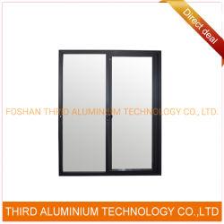 외부 힘 입히는 매트 까만 표면을%s 부속품을%s 가진 새로운 디자인 알루미늄 유리제 미닫이 문