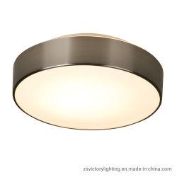 La luz de techo LED 18W con vidrio opal y manchas de níquel metal
