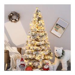 2021 Nuevo Diseño Venta al por mayor de la fábrica de nieve de Navidad Árbol de la aguja de pino decorado con luces para la decoración del hogar