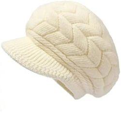 فصل الشتاء الكلاسيكي الدافئ مريح في الهواء الطلق غطاء الصوف قابل للضبط قبعة