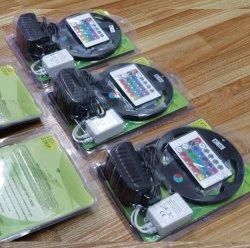 블리스터 패키지 소매 시장 12V 24V 5미터 Reel SMD5050 LED RGB 스트립 키트 가볍고 유연한 색상 변경 가능 LED 스트립 라이트