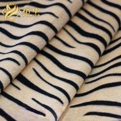 Stampa 100% della banda della tigre del poliestere Velboa morbido per i giocattoli della materia