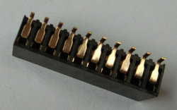 2.54mmの女性ヘッダの二重列SMT 20 Pin
