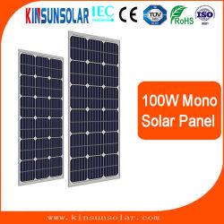 100W 18V Soalr Mono de paneles para 12V Batería solar