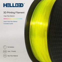 Hallo ABS 3D Heizfaden für Fdm 3D Leuchtstoff gelbe transparente 1.75mm Heizfaden ABS des Drucker-
