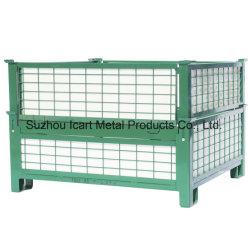 Склад в стек из нержавеющей стали для установки в стойку с вилами для поддонов