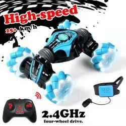 고속 2.4G 전기 리모컨 카 360 롤링 더블 사이드 러닝 제스처 핸드 워치 컨트롤 RC 토이 스턴트 차량 아이들을 위한
