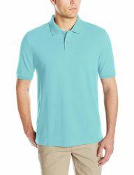 Los hombres durante el verano de impresión en blanco baratos personalizados en blanco de la moda deportiva Secado rápido T-Shirt Polo Shirt
