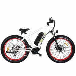 26 Zoll Bafang Brushless Middle Drive Motor Fat Tire Electric Fahrrad mit Samsung Cell Lithium-Batterie