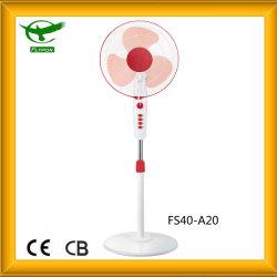 """Blanco + Rojo 16"""" Soporte eléctrico Ventilador con potencia del viento"""