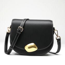 Sacchetto della sella del sacchetto di spalla di Crossbody del cuoio genuino della signora Plain della borsa di Guangzhou