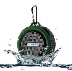 Ekinge Dusche-Lautsprecher des mini wasserdichter im Freienlautsprecher-manueller drahtloser beweglicher Lautsprecher-Ipx7 mit Absaugung-Cup und Haken