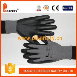 Jauge 13 Shell en nylon noir fonctionnel de l'enduction nitrile gants