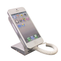 反盗難装置ホームセキュリティーの警報システムの表示携帯電話のホールダーのセル携帯電話の立場