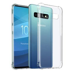 Anticlip transparente a prueba de golpes laterales cristalinas de la esquina de silicona TPU Bumper caso Teléfono