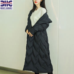 Longtemps les femmes de lumière noire Down Jacket pour Mesdames fashion Vêtements