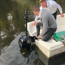 Elektrischer Außenbordmotor für Fischerboot, schwanzloser Motor des Boots-48V