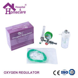 Collegare il flussometro del regolatore di pressione dell'ossigeno per apparecchiature ospedaliere Madical con Umidificatore/Collegamenti opzionali