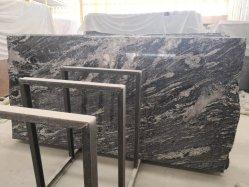الحجر الطبيعي Wave Sand China Jubarana لون أسود قبعة من الجرانيت للحصول على سطح منضدة، قُطع الجزء العلوي من الزينة ليحجم مع الرصف الخارجي