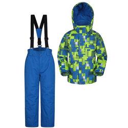 Veste et pantalon de ski pour enfants Set - Preuve de la neige les poches avant fleece lined intégré avec protection de la neige - idéal pour la planche à neige en hiver