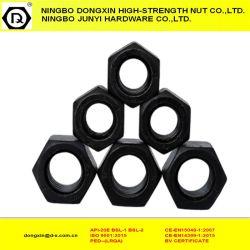 炭素鋼の十六進ナットの黒い締める物DIN934