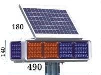 Im Freien blinkendes Emergency warnendes Verkehrs-Röhrenblitz-Licht des Sonnenkollektor-LED