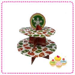 Décoration de Noël 2 Tiered Cupcake Stand CS jetables2-2