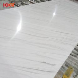 La pietra di spessore 12mm 20mm Mable gradice la pietra di superficie solida di pietra artificiale di colore bianco per i comitati delle mattonelle della parete
