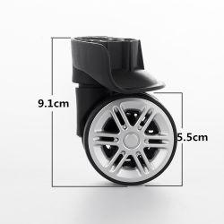 Caster negro de piezas y accesorios de acoplamiento fijo carro universal de las ruedas de equipaje Bolsa maleta
