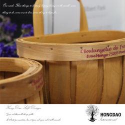 Ручная работа Hongdao Custom Рождество монтаж на стене украшения деревянной корзину _C