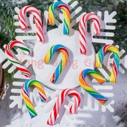 Afrutado de alta calidad de la Navidad Caña de Azúcar de caña de la forma de círculo de Candy Candy Cane
