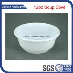 12oz de witte Plastic Kom van de Soep van de Verpakking