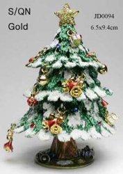 Coffret à bijoux en forme des arbres de Noël