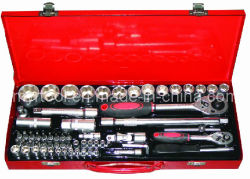 Conjunto de Ferramentas de chave de soquete com caixa metálica (FY1056A)